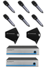 Sennheiser 6-PACK Wireless Handheld System with Paddle Antenna Distro
