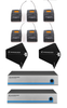 Sennheiser 6-PACK Wireless Lavalier System with Paddle Antenna Distro Rental