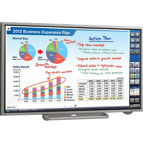"Sharp PN-L702B 70"" HD Interactive Whiteboard LED-LCD Display"