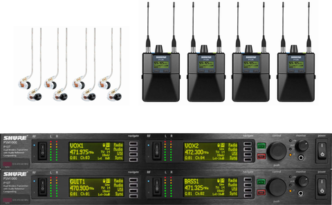 Shure PSM900 IEM 4 Pack Wireless Monitor System
