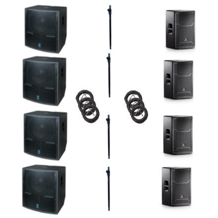 Mo' Bass JBL/Yorkville 16,000Watt Speaker Package with Subwoofers