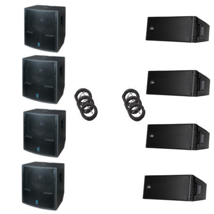 RCF Line Array 2x2 with Yorkville Subwoofers