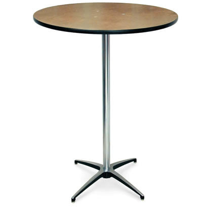 "30"" Round Wooden Highboy Cocktail Table - Rental"