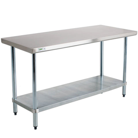 "6' x 30"" Stainless Steel Food Prep Table"