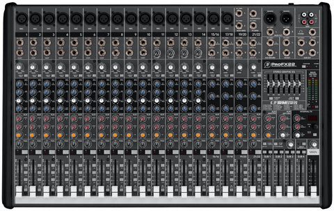 Mackie PROFX22 22 Channel 4 Bus Pro Mixer - 16 Mic Inputs w/Effects