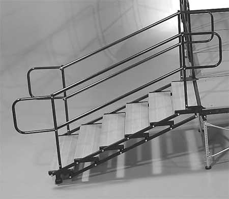 Adjustable 3'-4' Stair Set - Bil-Jax Multi-Stage System