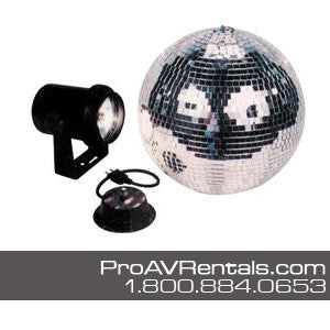 Mirror Ball / Disco Ball with Pinspot Package Rental