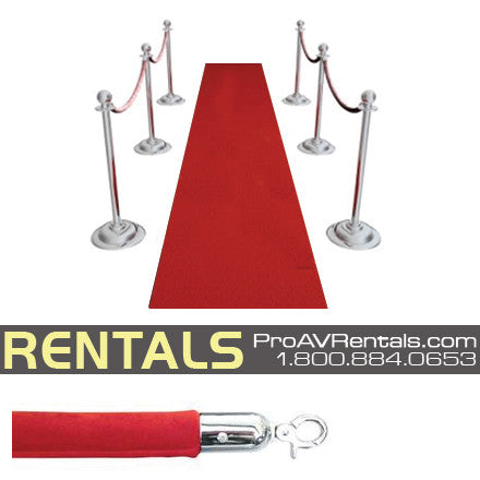Red Carpet Velvet Rope VIP Package