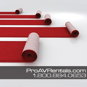 Red Carpet Runner 3ft x 10ft Rental