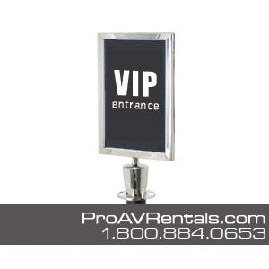 Stanchion Sign Frame Rental