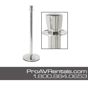 Polished Chrome Stanchion Rental