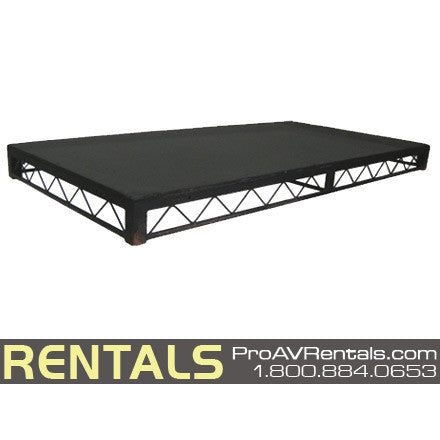 Steel Platform Portable Stage - 4X8 - 8in High Rental