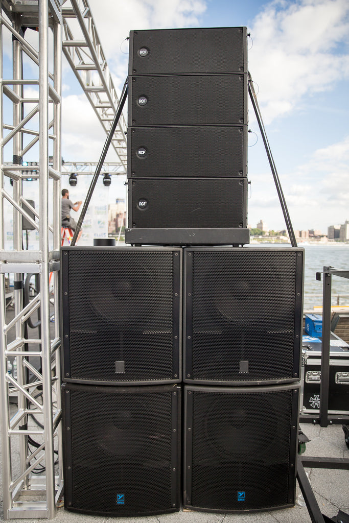 Rental 30 000 Watt Rcf Line Array With Yorkville Subs