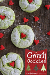 Easy Cake Mix Grinch Cookies
