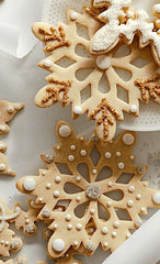 Gorgeous snowflake cookies