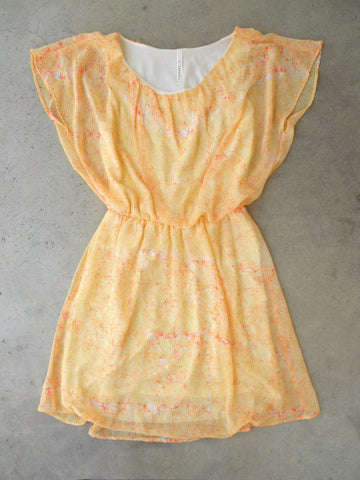 Citrus Brushstrokes Dress