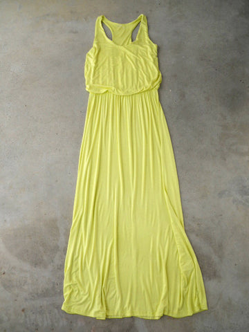 Chartreuse Summer Staple Maxi Dress