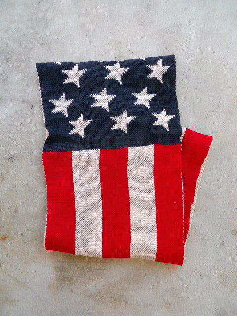 American Flag Stripes & Stars Knitted Infinity Scarf - deloom