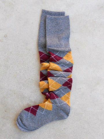 Soft & Cozy Boot Socks in Argyle