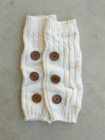 Ivory Hayseed Knitted Boot Cuffs - deloom