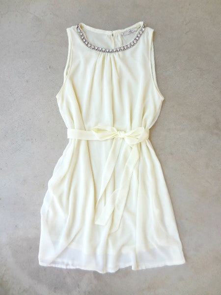 Meadow Grass Party Dress in Ivory - deloom