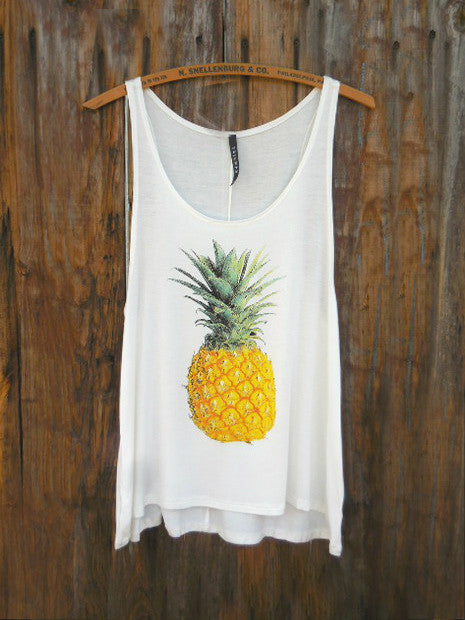 Breezy Pineapple Tank Top - deloom