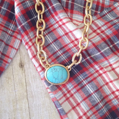 Bohemian Turquoise Necklace - deloom