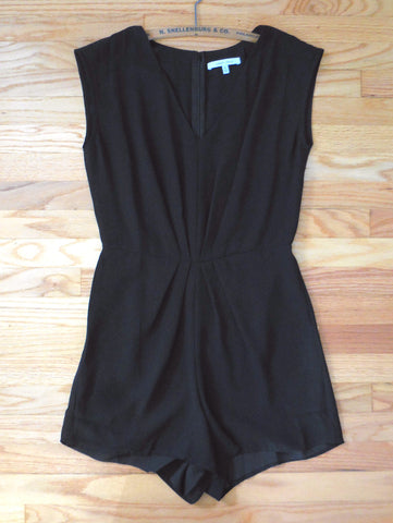 Simple Black Summer Party Romper