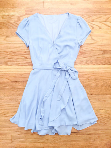 Blue Swing Party Dress - deloom