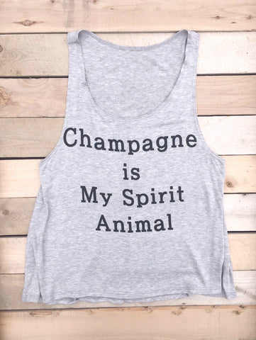 Champagne Is My Spirit Animal Tank Top - deloom