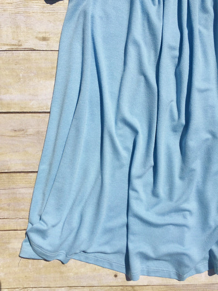 Draped Willow Top in Blue