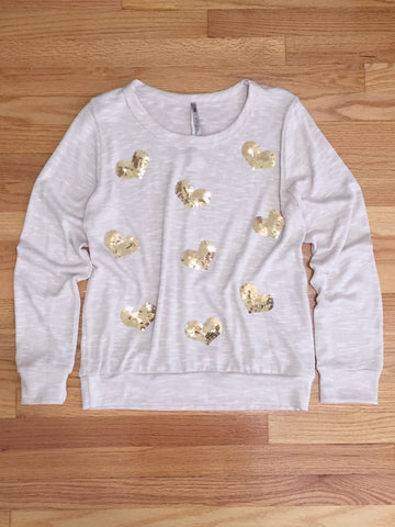 Hearts + Sequins Sweater - deloom