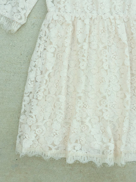Snowy Lace Party Dress