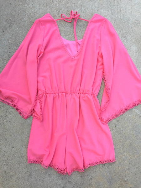 Sweet Pea Romper in Pink