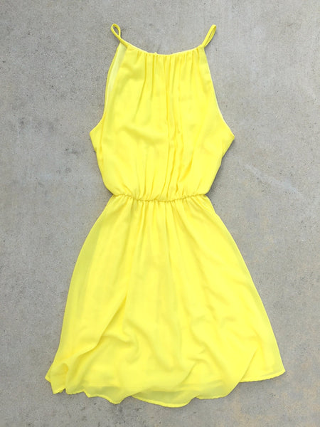 Sweet Spring Dress in Yellow