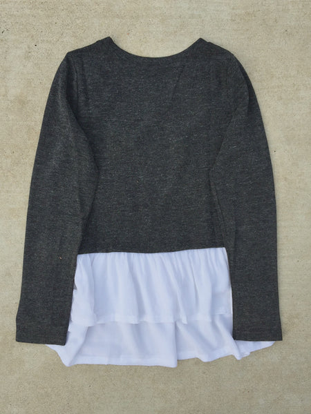 Tiered Winter Ruffle Knit Top