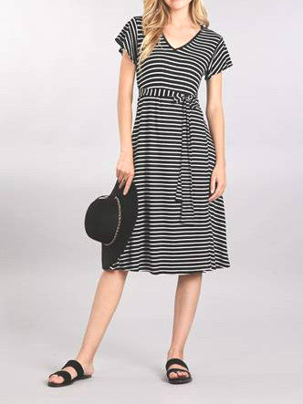 Black & White Striped Summer Dress