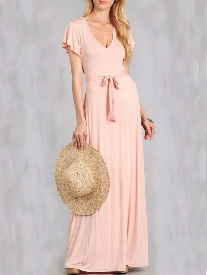 Summer Wrap Blush Maxi Dress
