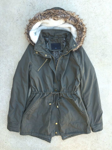 Cozy Northern Forecast Parka in Olive - deloom