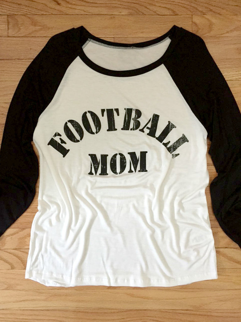Football Mom Baseball Shirt - deloom