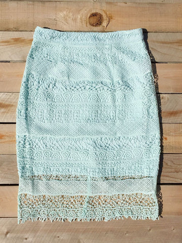 Crochet Mint Pencil Skirt - deloom