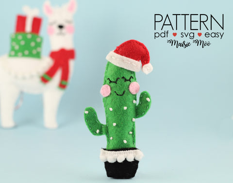 Christmas Cactus Felt Pattern Ornament