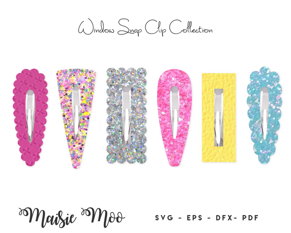Window Snap Clip SVG | Scalloped Snapclip Template