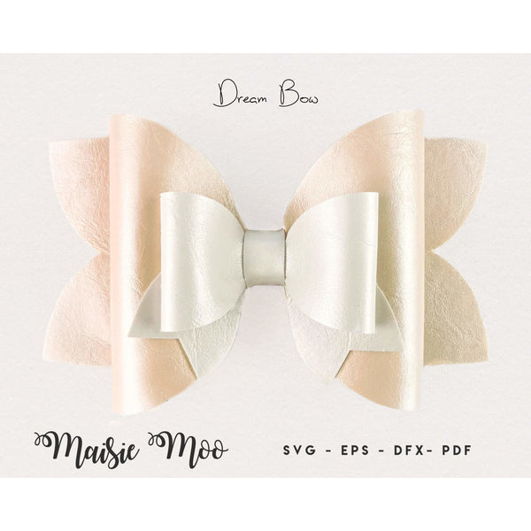 Wedding Bow Template SVG - Dream Bow SVG