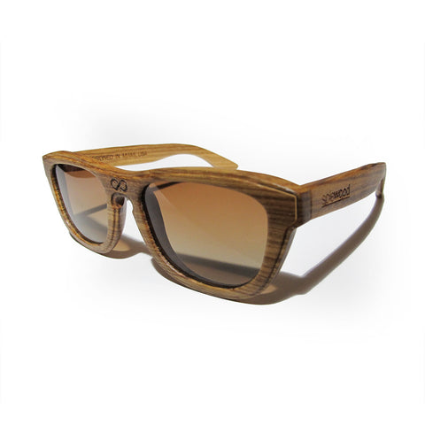 Alton Zebra Wood Polarized Frames