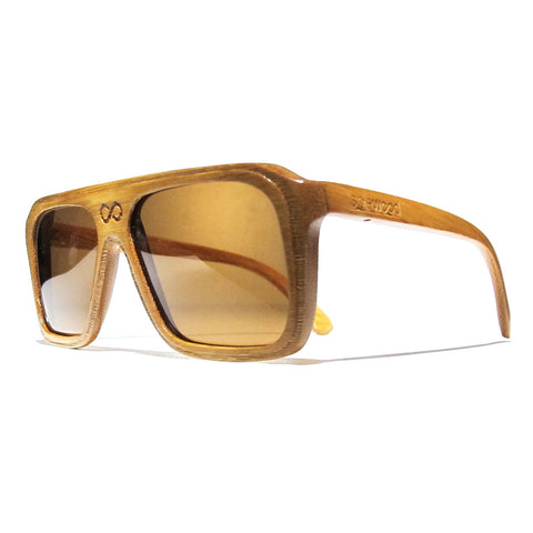 Bay Bamboo Wood Polarized Aviators