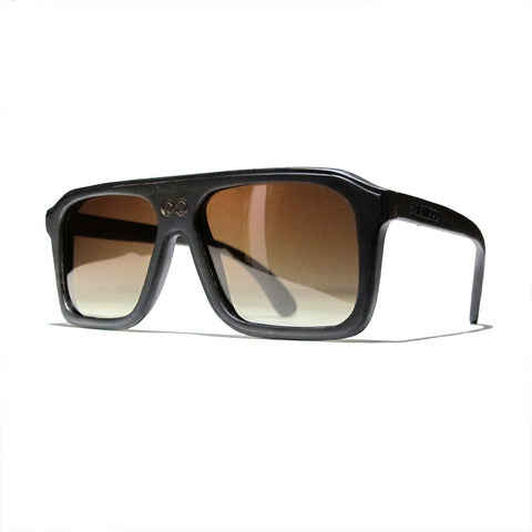 Bay Ebony Wood Polarized Aviators