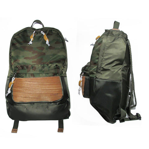 Supersoft Nylon Wood Backpack SW2: Olive/Camo