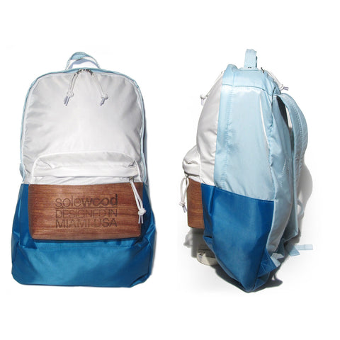 Supersoft Nylon Wood Backpack SW1: Mint/White/Teal