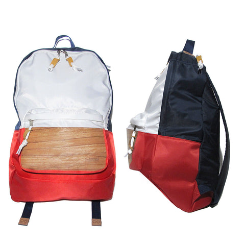 Supersoft Nylon Wood Backpack SW2: Red/White/Navy